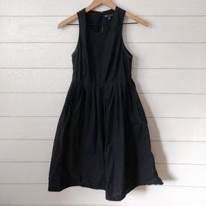 GAP Black Cotton Fit & Flare Dress Size 0